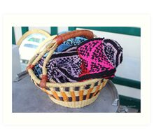 Basket of Knitted Things Art Print