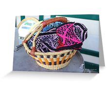 Basket of Knitted Things Greeting Card