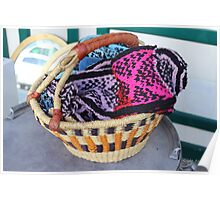 Basket of Knitted Things Poster
