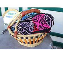 Basket of Knitted Things Photographic Print