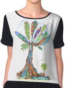 Tree of Life 12 Chiffon Top