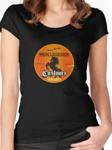 Hot Rod Retro Decal Women's Fitted Scoop T-Shirt