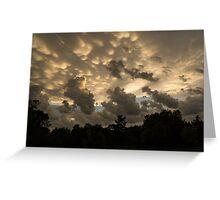 Furious Sky - Mammatus Clouds After a Storm Greeting Card