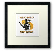 Wild Wild Space Bounty Hunter Framed Print