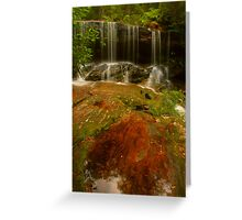 Somersby Falls with copper puddle Greeting Card