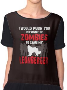 Front Of Zombies Leonberger Chiffon Top