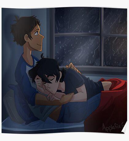 Rainy Day Cuddles Poster