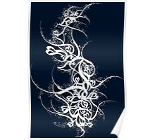 Persian Calligraphy Navy Blue Poster