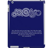 The Doctor's name and quote iPad Case/Skin