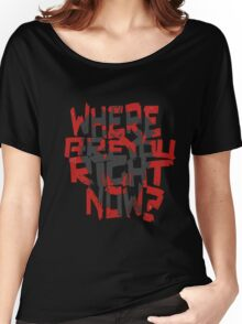 12 Monkeys- where are you right now? (grey monkey) Women's Relaxed Fit T-Shirt