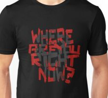 12 Monkeys- where are you right now? (grey monkey) Unisex T-Shirt
