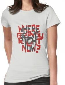 12 Monkeys- where are you right now? (grey monkey) Womens Fitted T-Shirt