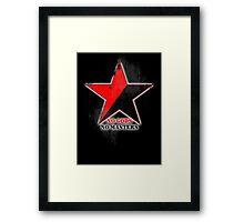 No Gods No Masters - Anarchist Star - grunge Framed Print