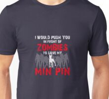 Front Of Zombies Min Pin Unisex T-Shirt