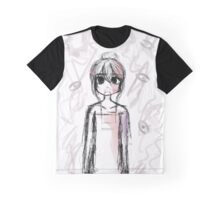 Scribbles Featuring Girl Graphic T-Shirt