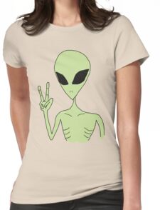 peace alien Womens Fitted T-Shirt
