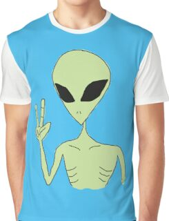 peace alien Graphic T-Shirt