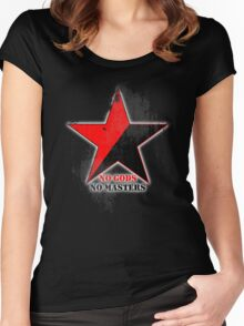 No Gods No Masters - Anarchist Star - grunge Women's Fitted Scoop T-Shirt