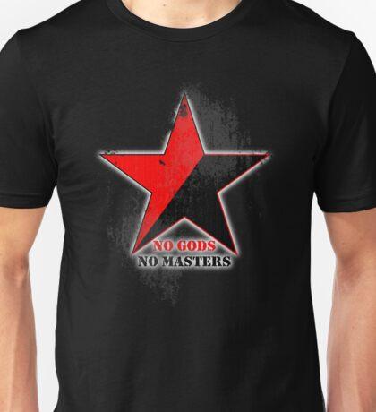 No Gods No Masters - Anarchist Star - grunge Unisex T-Shirt