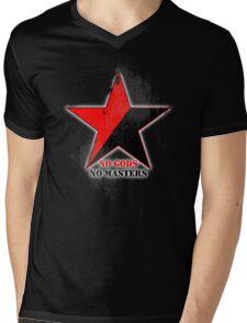 No Gods No Masters - Anarchist Star - grunge Mens V-Neck T-Shirt