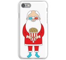 Santa Claus with popcorn and 3D glasses iPhone Case/Skin
