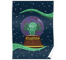Merry Solstice with Little Cthulhu Poster