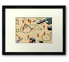 Bicycle building Framed Print