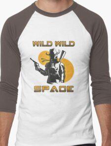 Wild Wild Space Bounty Hunter Men's Baseball ¾ T-Shirt