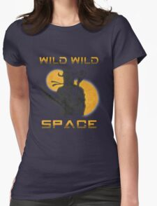 Wild Wild Space Bounty Hunter Womens Fitted T-Shirt