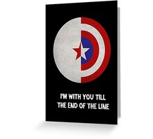 Cap and Bucky White Text Greeting Card