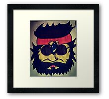 Hand-painted Tommy Chong Framed Print