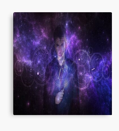 10th Doctor Who Galaxy Canvas Print