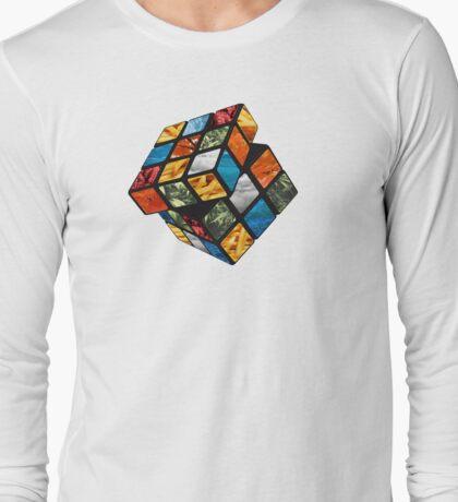 Rubix Cube design  Long Sleeve T-Shirt