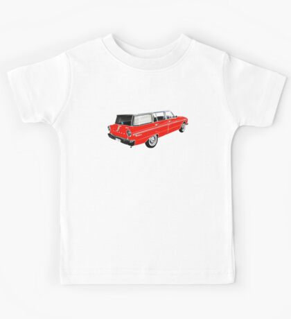 XM Falcon Wagon (Red) Kids Tee
