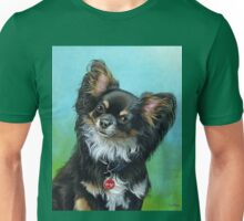 Butterfly eared black chihuahua portrait, acrylic painting Unisex T-Shirt
