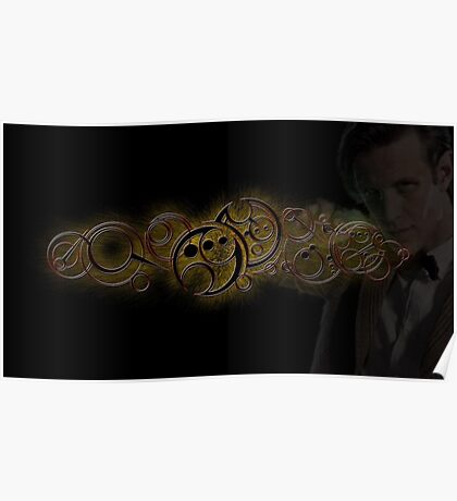 Eleventh Doctor Who Gold Graphic Poster