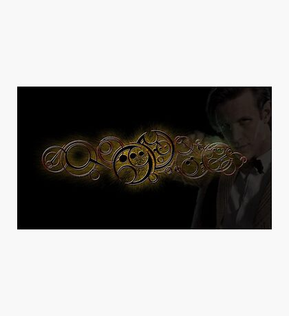 Eleventh Doctor Who Gold Graphic Photographic Print