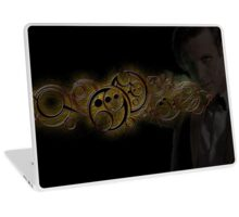 Eleventh Doctor Who Gold Graphic Laptop Skin
