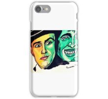 Dr Jekyll and Mr Hyde Watercolor Painting by Pandora Fox  iPhone Case/Skin