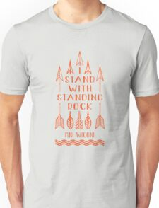 I Stand With Standing Rock, No Dakota Pipeline Unisex T-Shirt