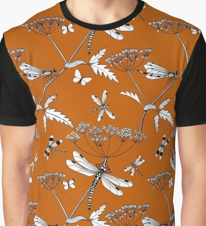 dragonflies (burnt orange) Graphic T-Shirt