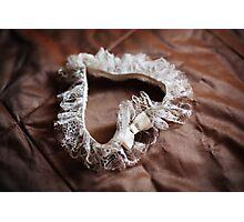 Wedding lace garter Photographic Print