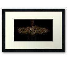 Twelfth Doctor Who Golden Graphic Framed Print