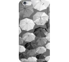 Black and White Brollies iPhone Case/Skin