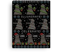 Decorate! Illuminate! Celebrate! Canvas Print