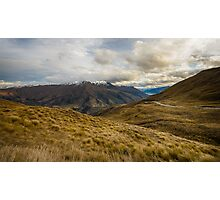 View from Crown Range Road Photographic Print
