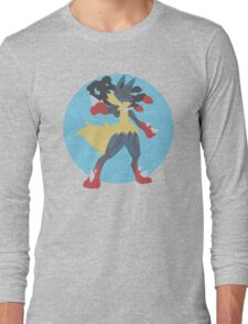 Mega Lucario Minimalism Long Sleeve T-Shirt