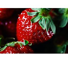 Ripe strawberry close up Photographic Print