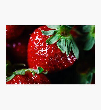 Ripe strawberry close up Photographic Print