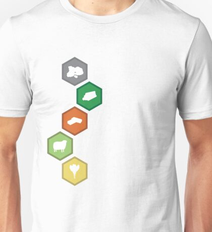 Settlers of Catan - Resource Tiles Unisex T-Shirt